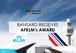 Bansard receives AFKLM's Customer Appreciation Award !