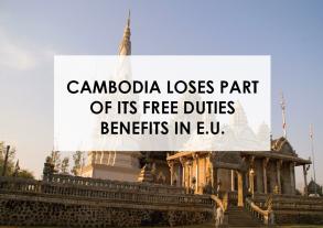 Le Cambodge perd des avantages douaniers dans l'UE sur certains produits.