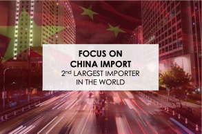 Focus on China Import, 2nd largest importer in the world