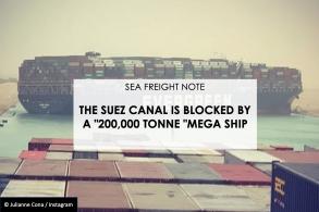 巨型货轮堵住苏伊士运河