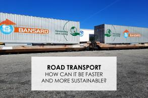 How can road transport be made faster and more environmentally friendly?